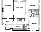 Two Bedroom/Two Bathroom/Balcony